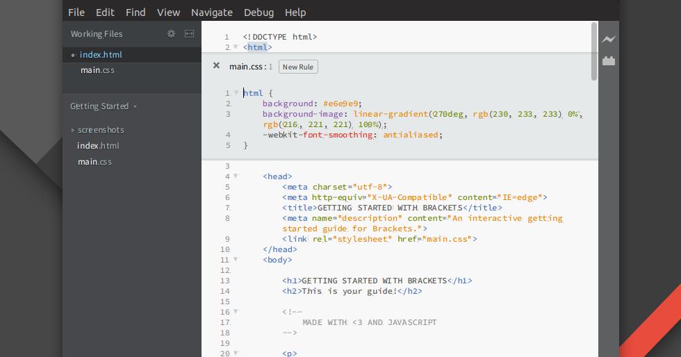 Open Source Web Design Editor Brackets 1 13 Released Https Go Creatorsofweb Com 1c95a800 Web Design Tips Web Design Website Development