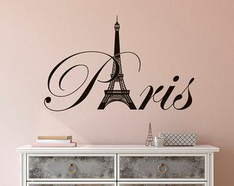 Eiffel Tower Wall Decal Paris Wall Decals Vinyl Stickers Paris Skyline  Silhouette France Romantic Love Living Room Art Bedroom Decor C076 | Wall  Decals, ...