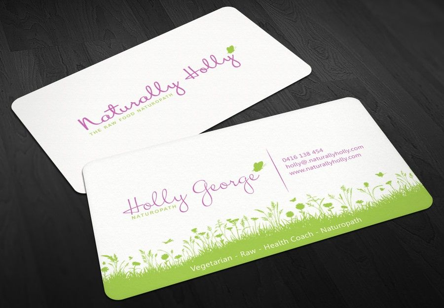 Help create a healthy life coach business card by kendhie ...