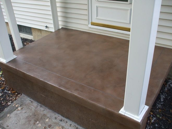 Stained Cement Porch Concrete Stain Ideas Projects From