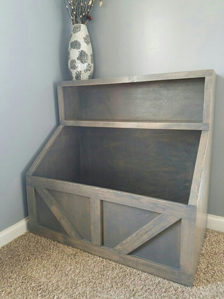 Toy Box And Bookshelf All In One With Images Wood Toy Chest Farmhouse Toys Playroom Storage