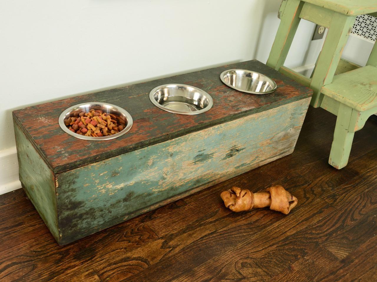 how to make a pet feeding station   d o g   hunde, hundenapf, haustiere