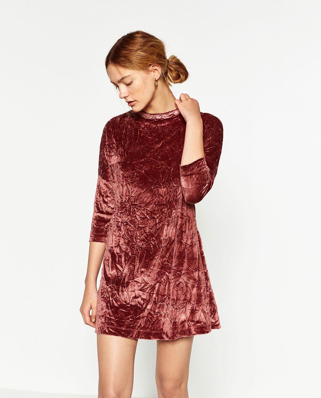 Imagen 2 De Vestido Terciopelo De Zara Modestil Samtkleid Kleider