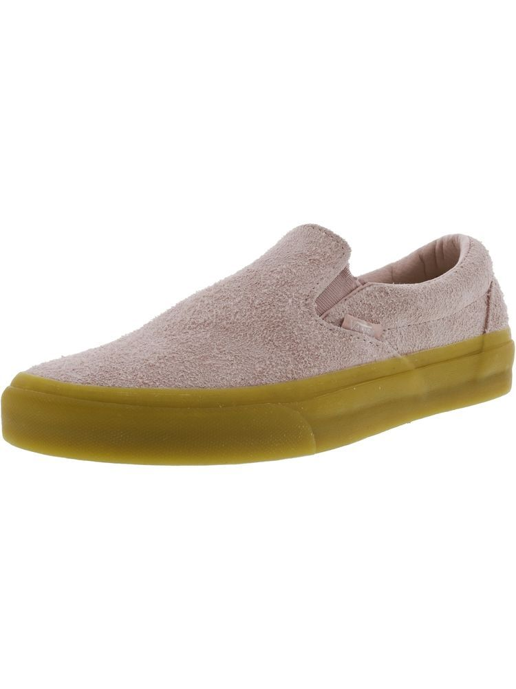 8dde2bf4efdc9b Vans Classic Slip-On Fuzzy Suede Ankle-High Shoes  fashion  unisexadultshoes