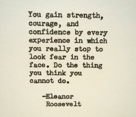 ELEANOR ROOSEVELT Inspirational Quote Famous Quote Hand Typed