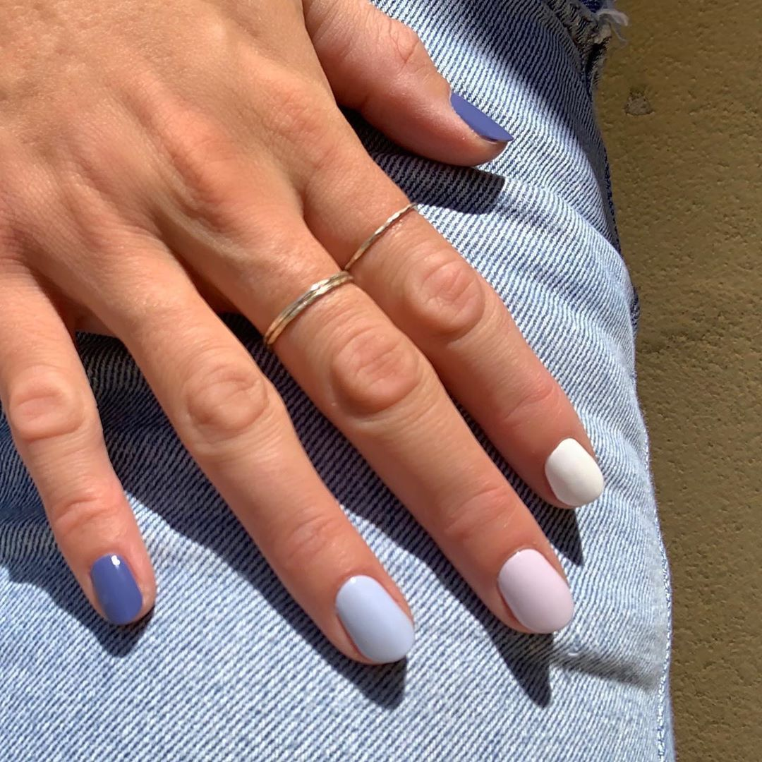 Olive June On Instagram Jeans That Will Always Fit The Blue Jeans Ombre Kit Minimalist Nails Minimalist Nail Art Manicure