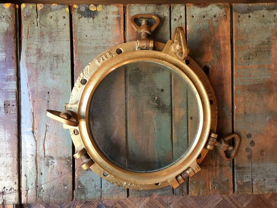 wood porthole wooden brass portholes silver nautical mirror ships colored decor