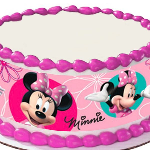 Minnie Mouse Cake Decorations Minnie Mouse Round Edible Image Cake