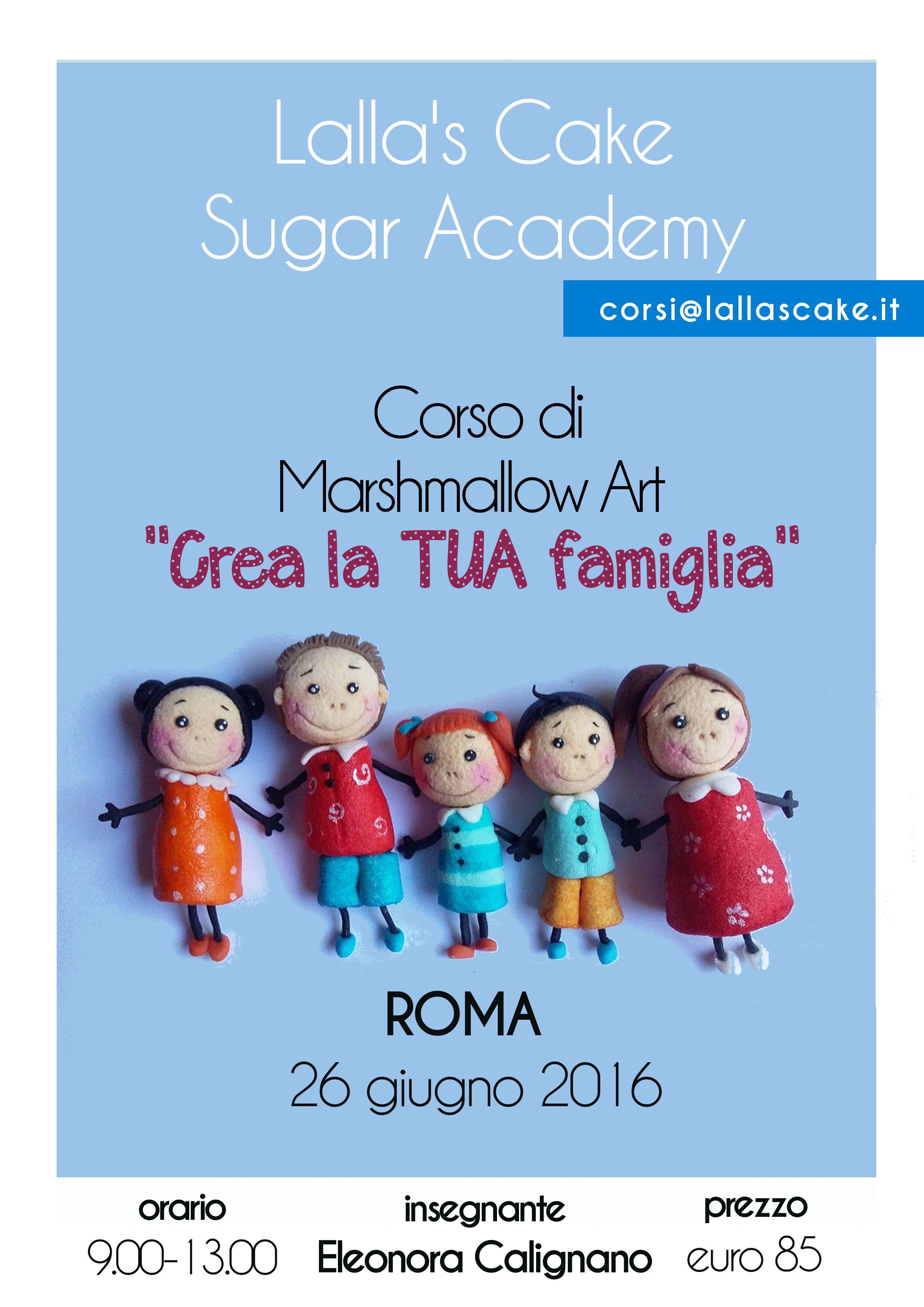Corsi di cake design a roma marshmallow art eleonora for Corsi arredamento