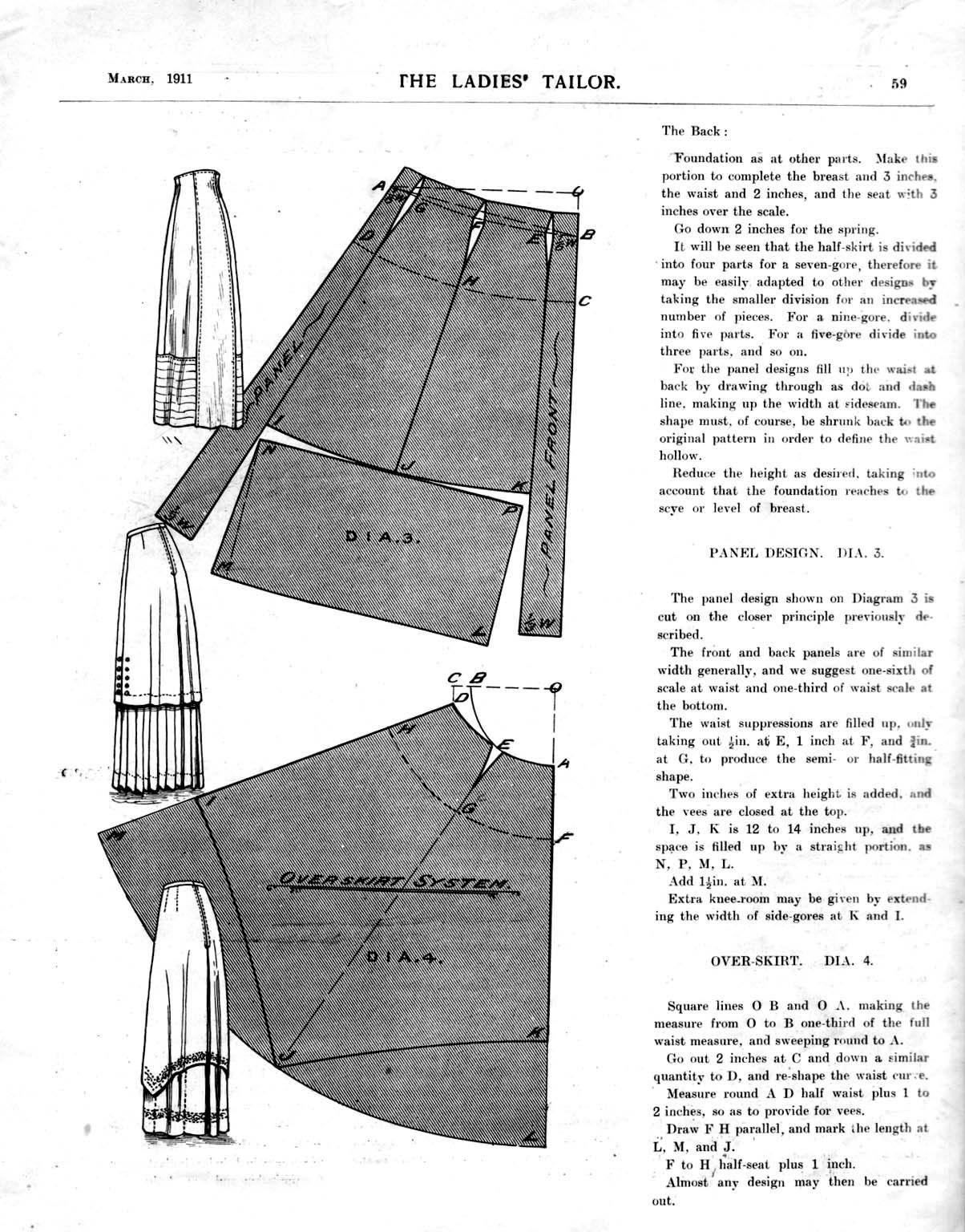 1911 Edwardian Overskirt patterns | clothing | Pinterest | Costura ...