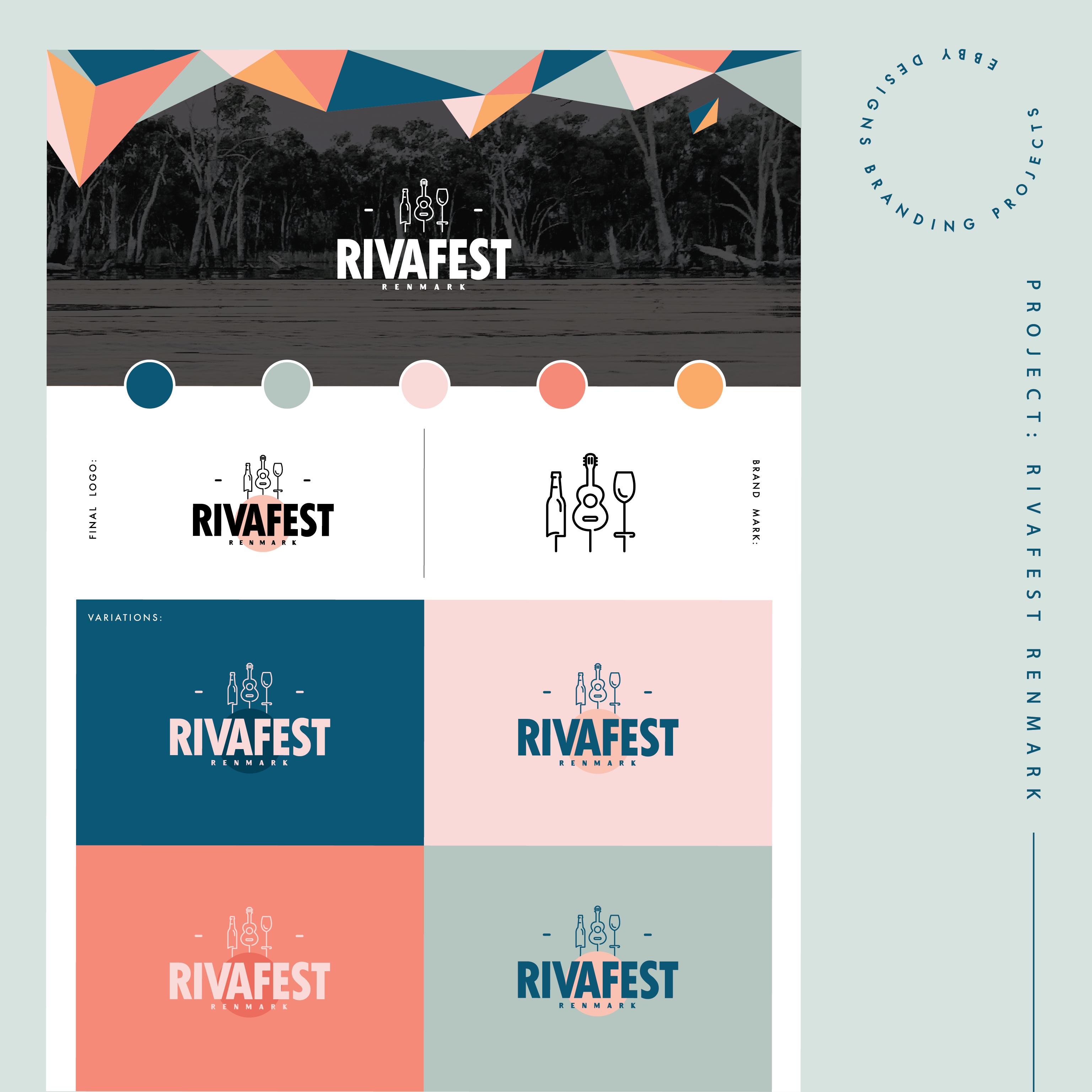 Rivafest Renmark By Ebby In 2020 Web Design Studio Brand Identity Design Branding Design