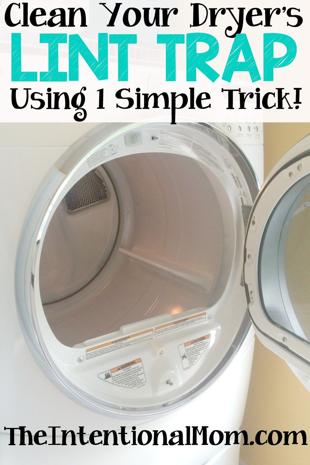 Clean Your Dryer S Lint Trap Using 1 Simple Trick Dryer