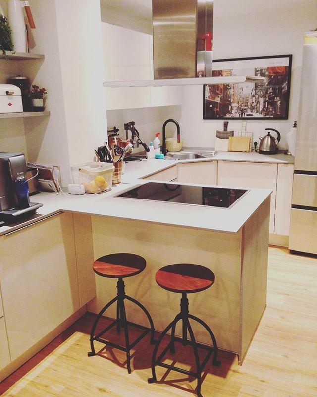 15/30 #instagraminteriorchallenge #kitchen Unsere Küche - da wo ich - küche mit bar
