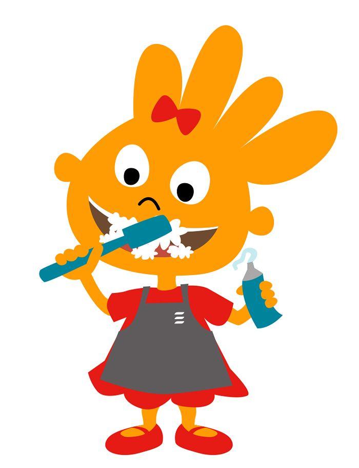 Madeleine se lava los dientes. Newrest. @Antònia Calafat Capó para On Accent. #illustration #kids