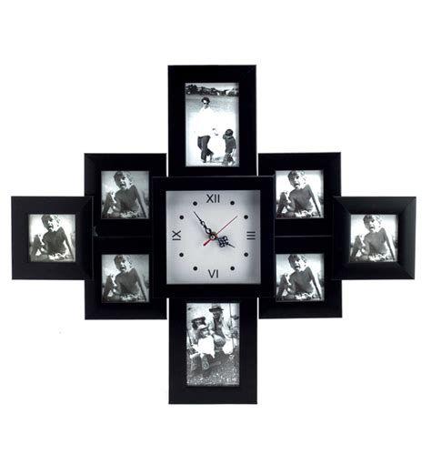 Blacksmith Black Photo Frame Cum Wall Clock Best Deals With Price