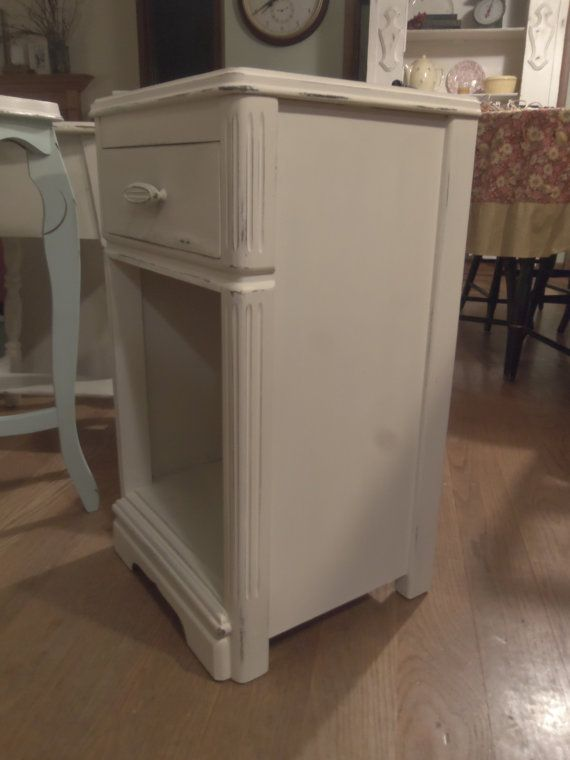 Shabby Chic Side Table End Table Night Stand by KJsTinCanTreasures, $85.00