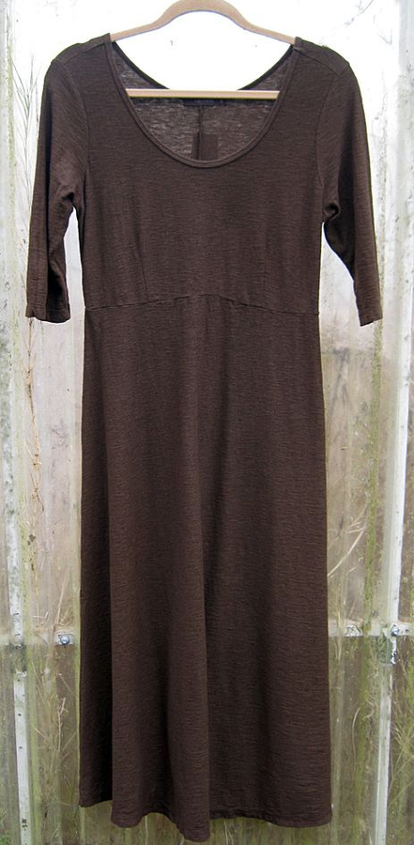 Cut Loose Linen And Jersey Elbow Sleeve Dress Cut Loose Clothing Loose Outfit