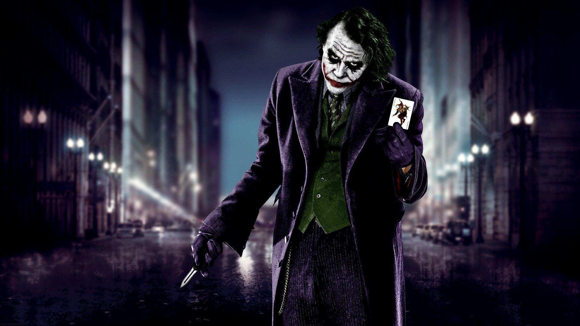Heath Ledger Knife Cards The Dark Knight Batman