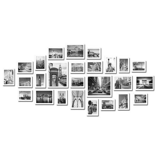 Large Multi Picture Photo Frames Wall Set 26 Pieces Set (White ...
