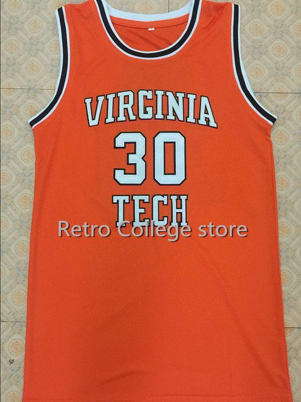 the latest 5e543 e80ad 30 Dell Curry Virginia Tech University Hokies College ...