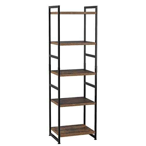 Jiguang Shelf Shelves 5 Tier Bookcase Shelving Storage Unit