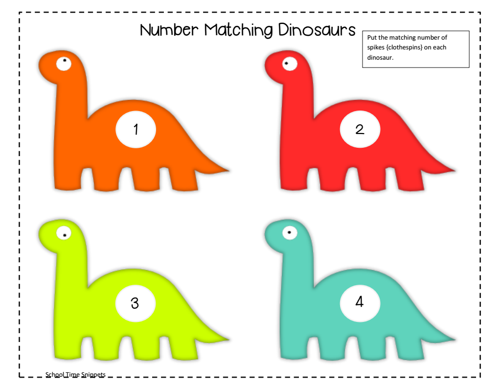 Number Matching Dinosaurotected