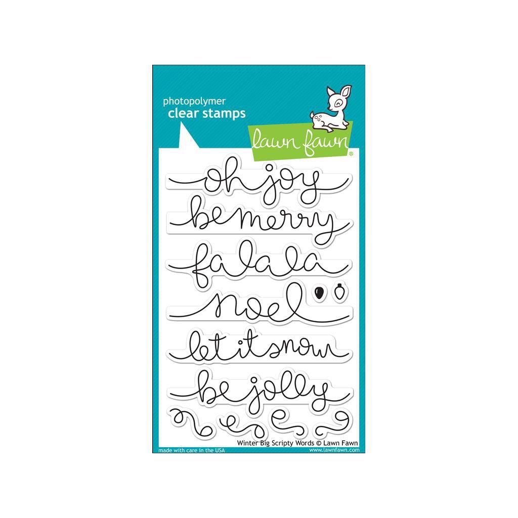 Lawn Fawn Clear Stamp Set BIG SCRIPTY WORDS