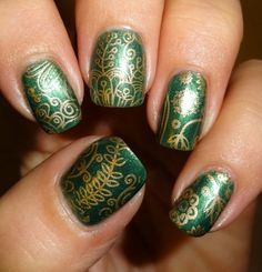 Green and gold nail art choice image nail art and nail design ideas green finger nail designs google search unhas lindas green finger nail designs google search unhas lindas prinsesfo Choice Image