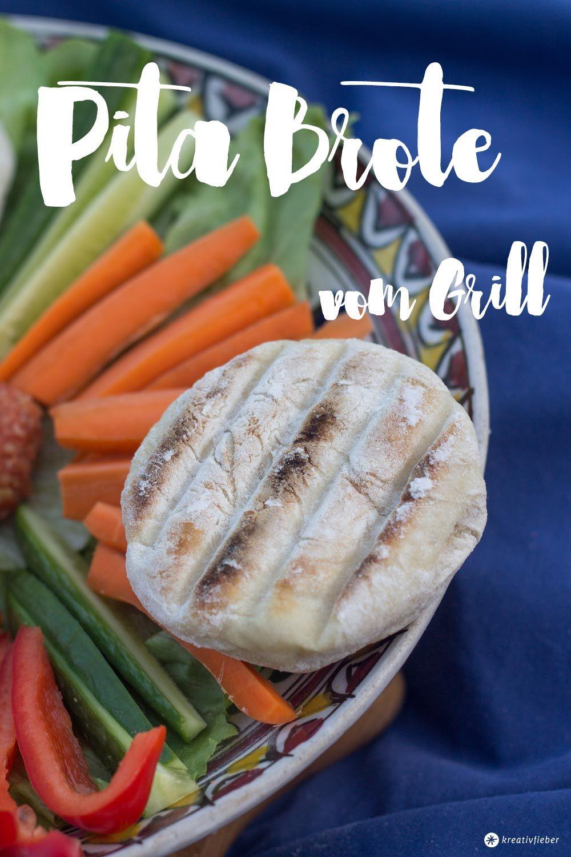 Pita Brote vom Grill - ganz einfach selbermachen - perfekt zum Befüllen oder zu Dips auf der nächsten Grillparty. Glamping Rezeptideen.