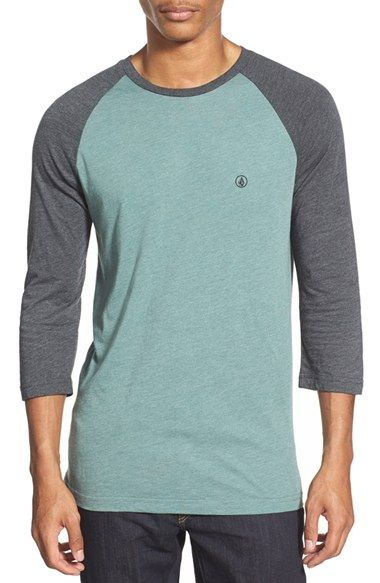 Volcom Raglan Three Quarter Sleeve T-Shirt