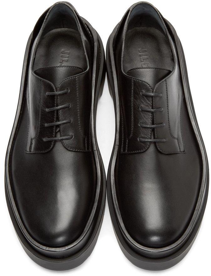 black leather derby shoes mens
