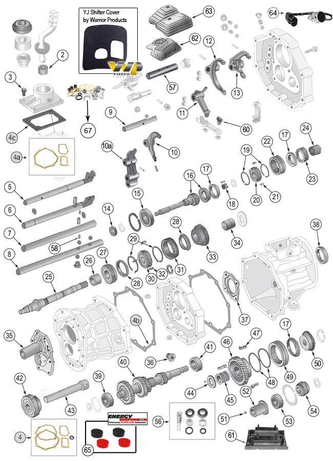 Aisin AX4 & AX5 Transmission Parts for Jeep Wrangler TJ, YJ, Jeep CJ7, CJ8 Scrambler, Cherokee