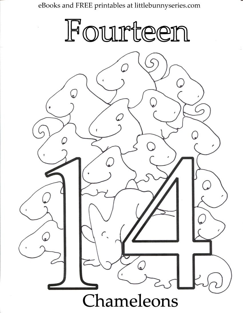 Number 14 Coloring Page Pdf Coloring Pages Letter A Coloring Pages Printable Coloring Pages