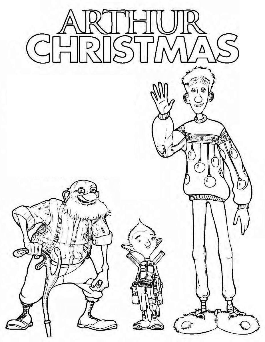 Arthur Christmas Coloring And Activity Page Arthur Christmas Christmas Coloring Pages Christmas Colors