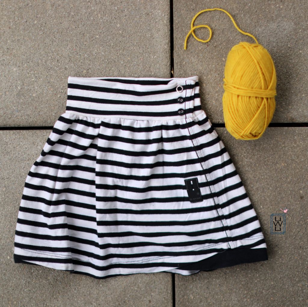 Photo of Kinderrock mit Knopfleiste aus altem Shirt nähen – Upcycling – kostenlose Anleitung – Lila wie Liebe