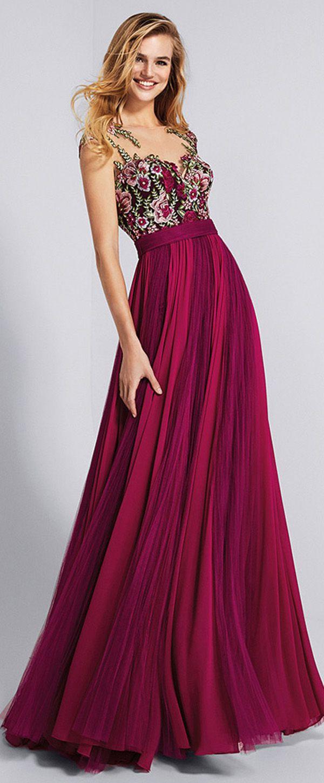 a83668b267e6c 125.29] Chic Chiffon Bateau Neckline A-line Prom Dress With Lace ...