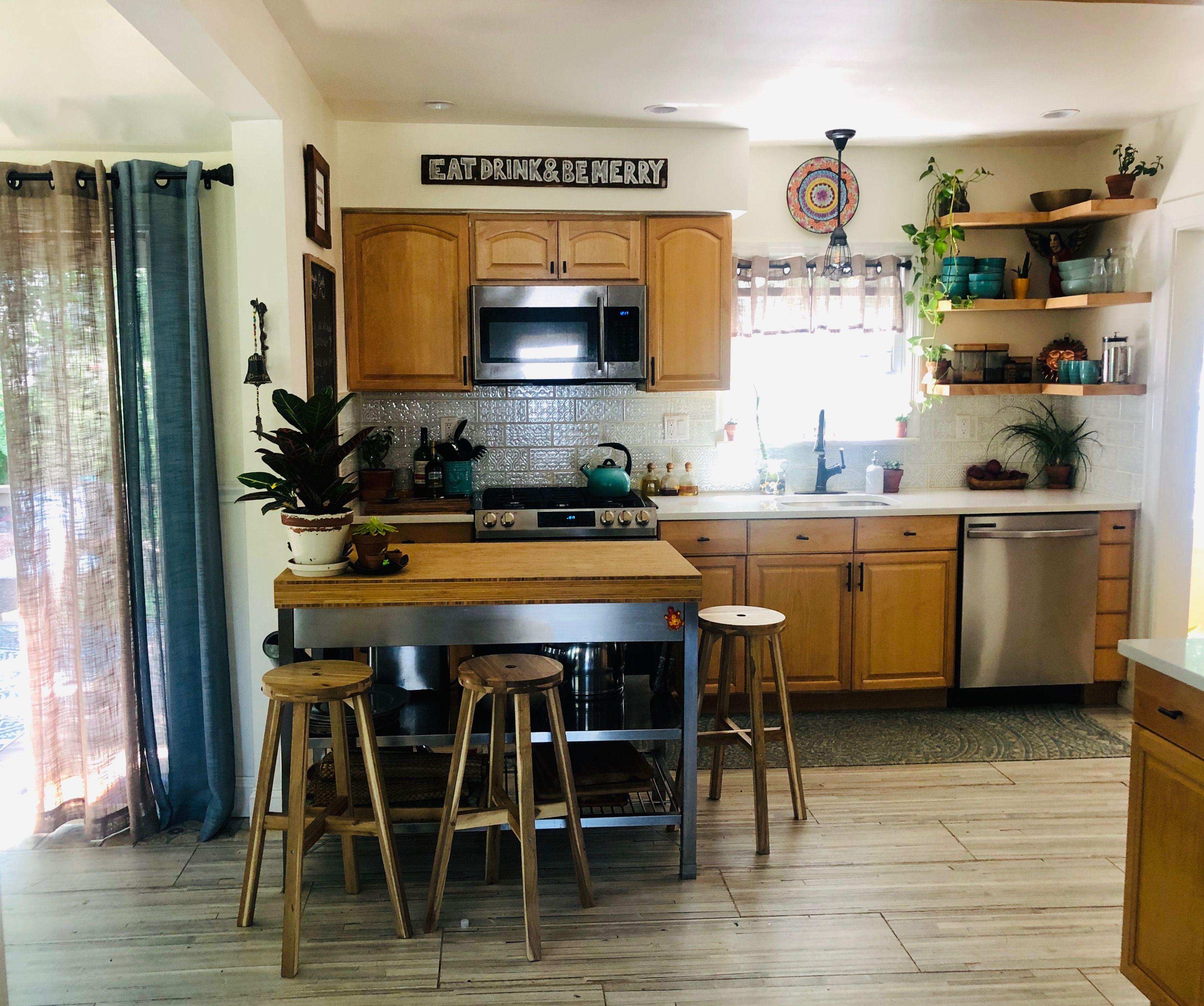 IKEA island in 2020 | Rustic kitchen, Ikea island, Home decor