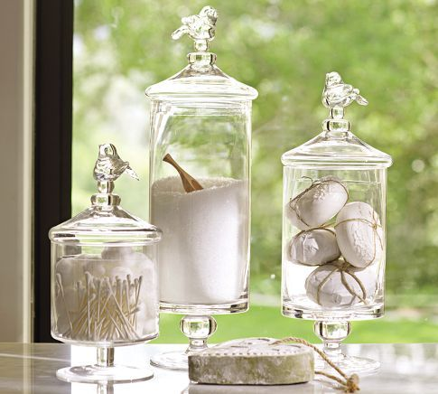 I Just Canu0027t Get Enough Glass   And These Whimsical Glass Bird Canisters Are