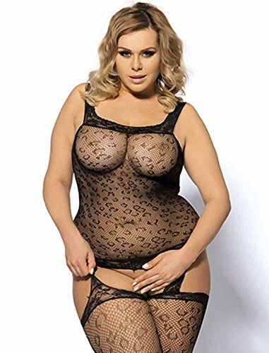 cb5daf31f8 Womens Plus Size Open Crotch Fishnet Stockings Mesh Lingrie Bodysuits    Click image to review more details.