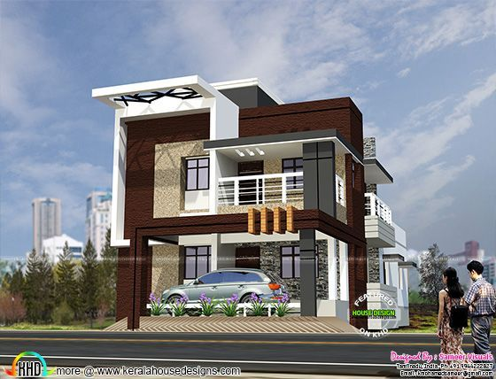 South Indian Style Contemporary House Double Storey House Plans House Designs Exterior Double Storey House