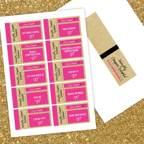 The Naughty Coupon Booklet 30 Sexy printable by ArtisPrintables