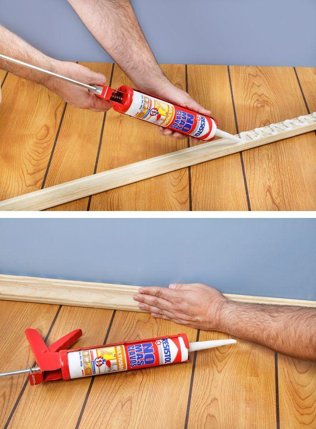 Pega el zoclo de madera de tu piso con resistol no m s - Precio pattex no mas clavos ...