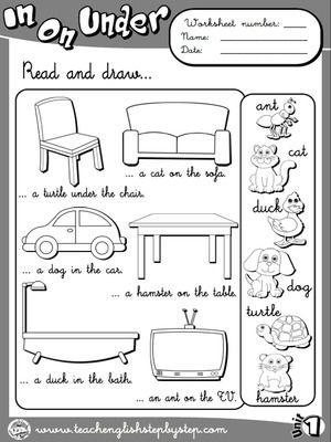 Funtastic English 2 English Teaching Resources Preposition Worksheets English Primary School Preposition worksheets for kindergarten