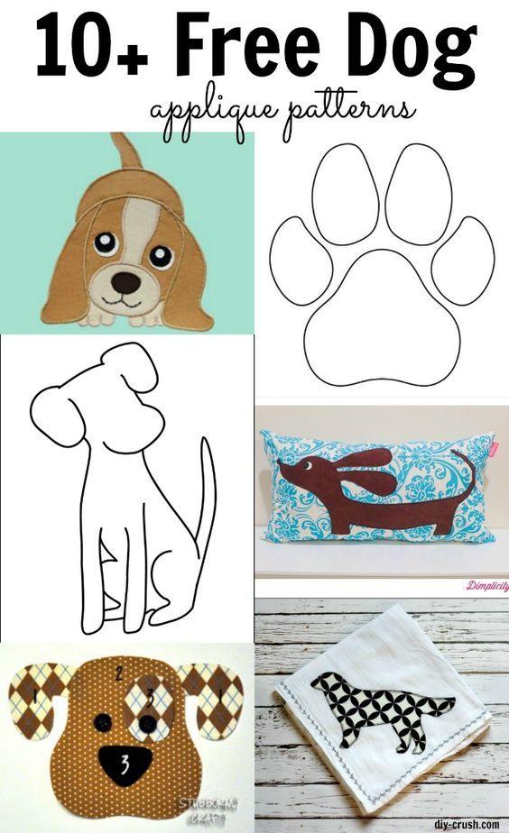 Free Dog Applique Patterns | Pinterest | Applikationen, Nähanleitung ...