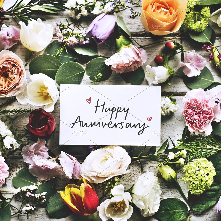 Happy Anniversary Card And Flowers Happy Wedding Anniversary Cards Happy Anniversary Cards Wedding Anniversary Cards