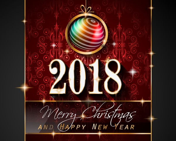free eps file christmas balls with vintage 2018 new year background vector 02 download name