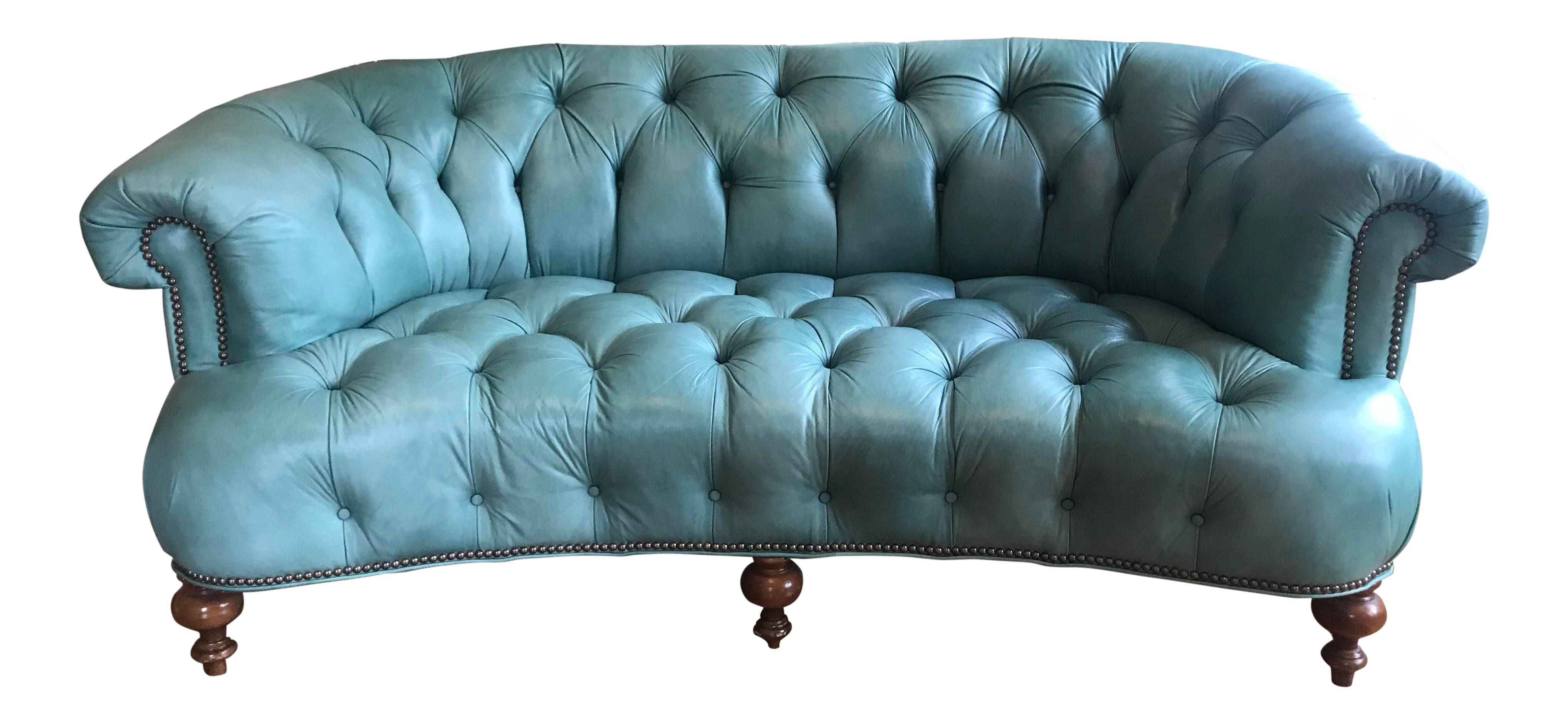 Best Vintage Turquoise Leather Tufted Sofa Tufted Sofa Sofa 400 x 300