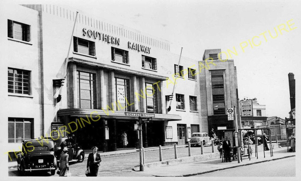 L/&SWR. Mortlake Richmond Railway Station Photo Twickenham 4