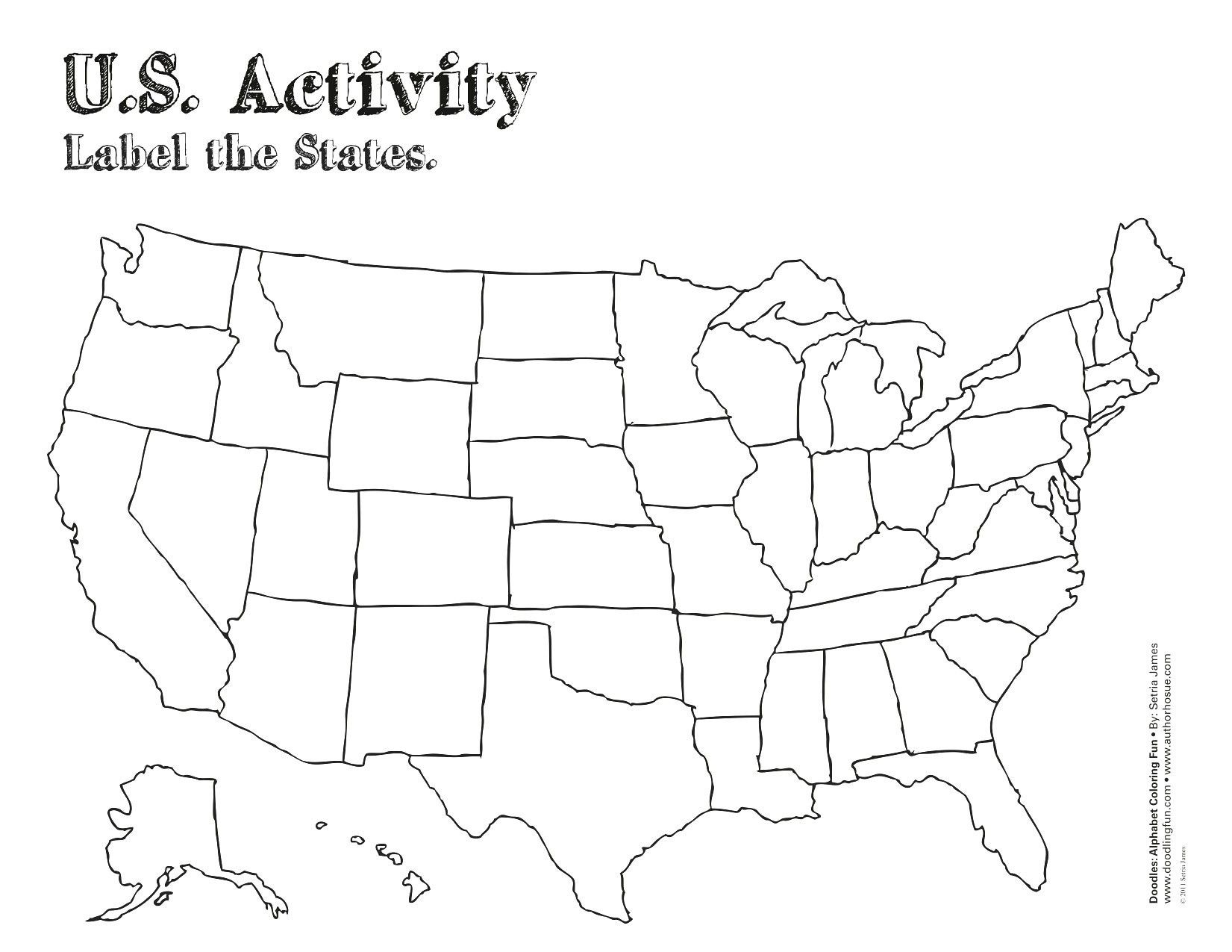 Blank Maps Of United States And Capitals Study Guide