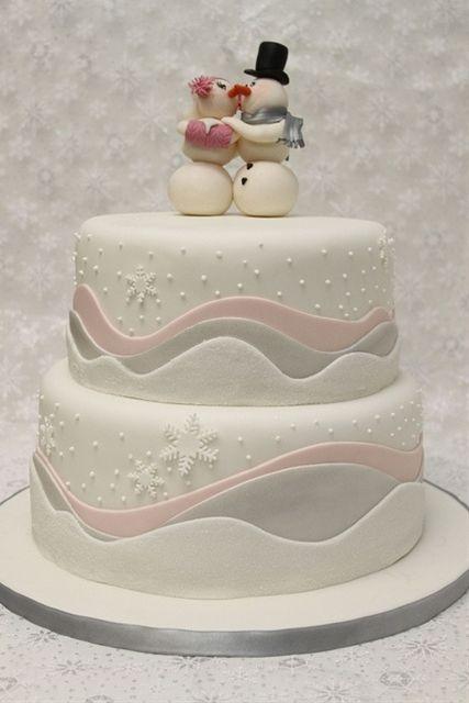 winter wedding #cake with #snowmen :) | Winter wedding | Pinterest ...
